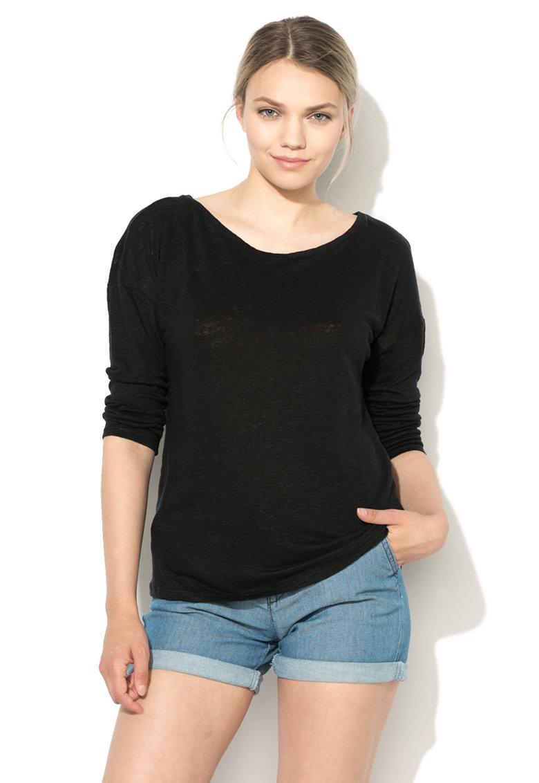 Bluza neagra tricotata fin de in