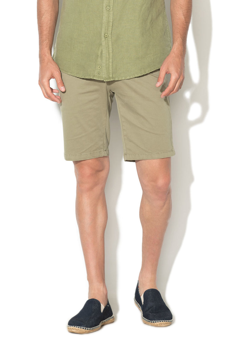 Zee Lane Denim Bermude chino verde oliv