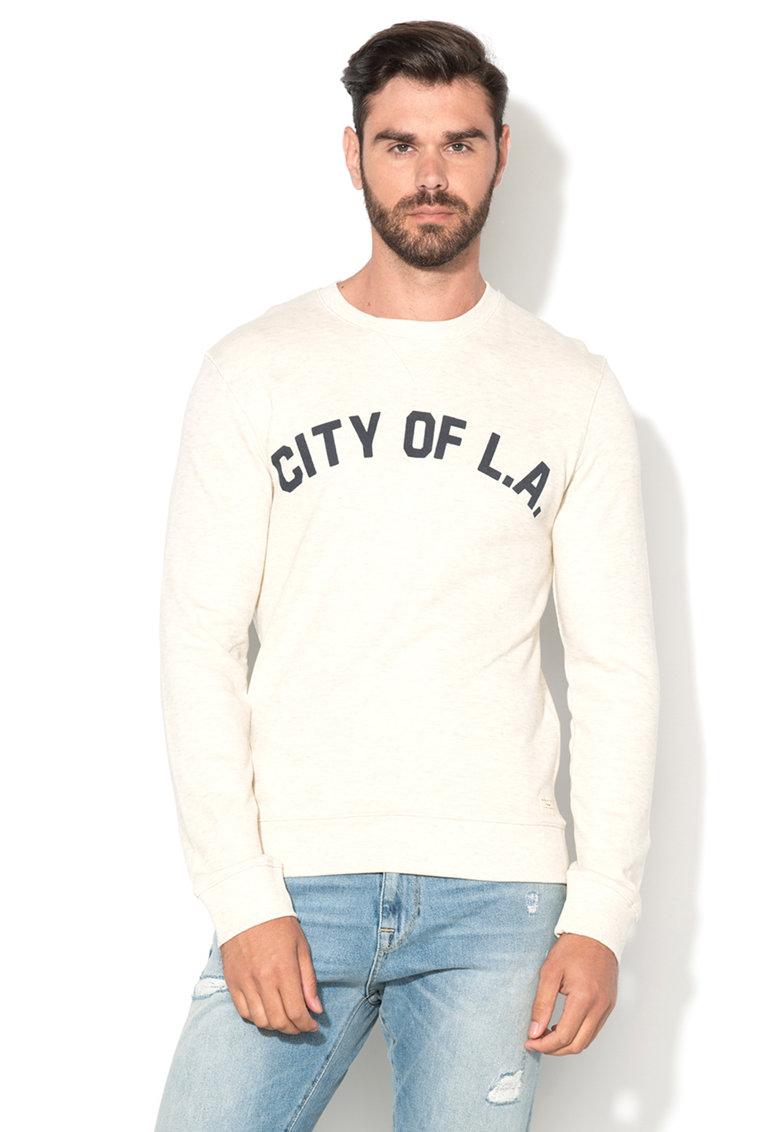 Bluza sport alb unt cu text Hemmet de la Selected Homme