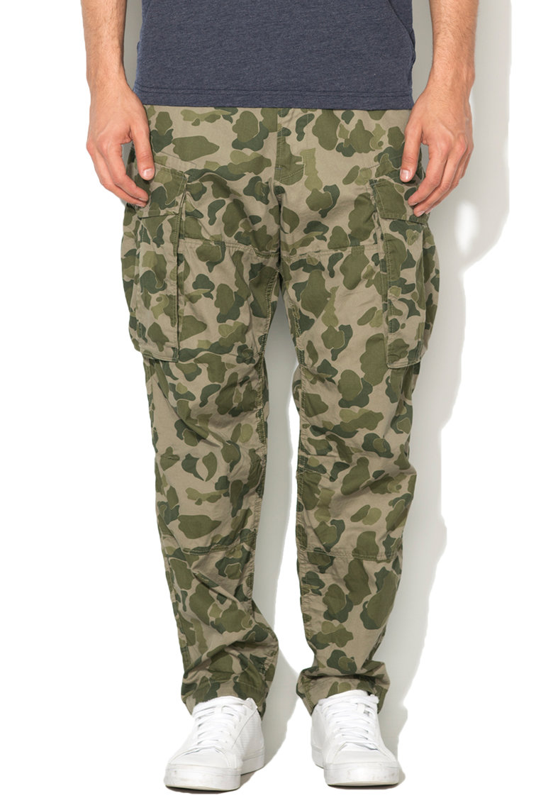 G-Star Raw – Pantaloni cargo lejeri in nuante de verde Rovic D01811-8020-6152