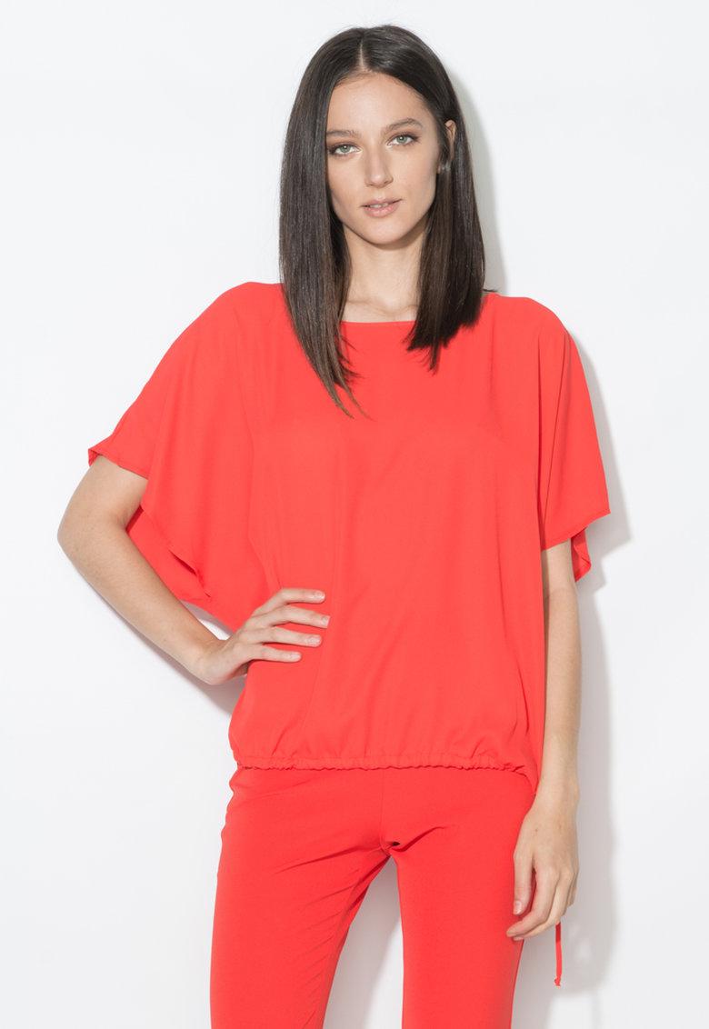 Bluza rosie cu snur la terminatie de la Zee Lane Collection
