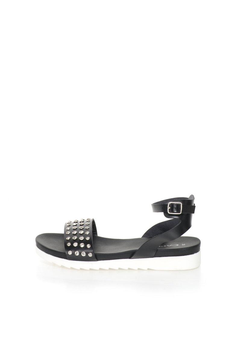 Oakoui Sandale negre cu strasuri Carima