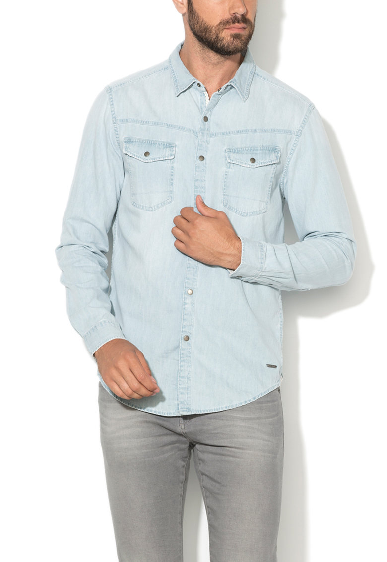 EDC by ESPRIT Camasa bleu regular fit din denim
