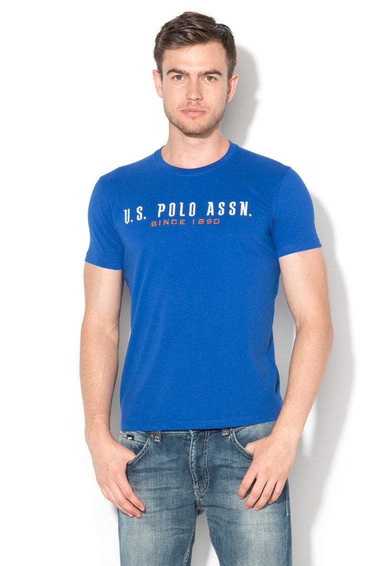 Tricou albastru royal cu broderie logo de la US Polo Assn