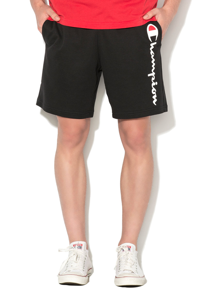 Champion Pantaloni scurti sport negri comfort fit
