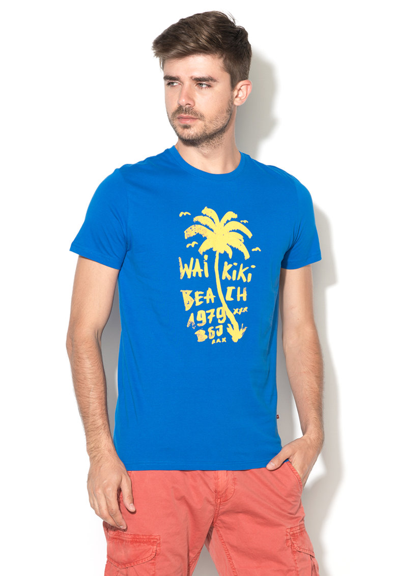 Tricou cu imprimeu tropical Chrisili