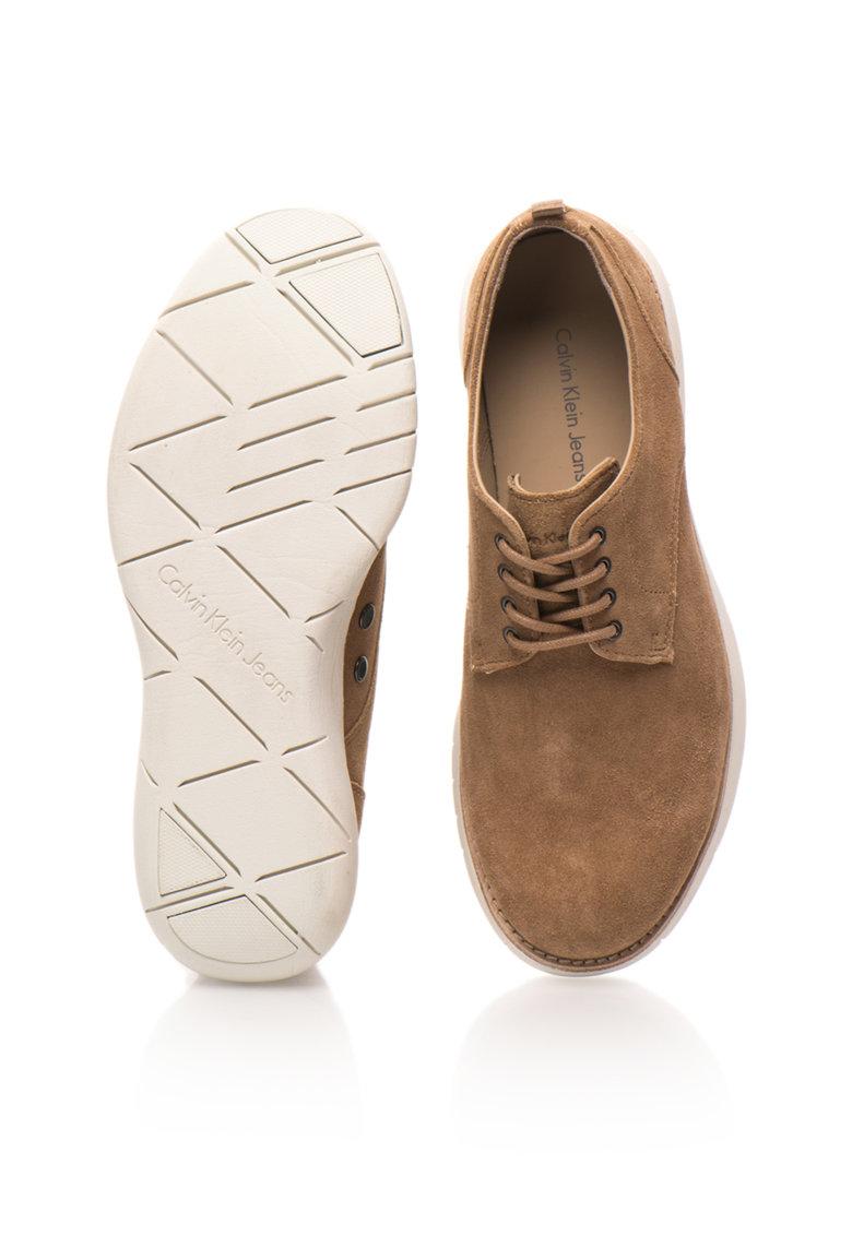 Calvin Klein Jeans Pantofi casual maro deschis de piele intoarsa Tab