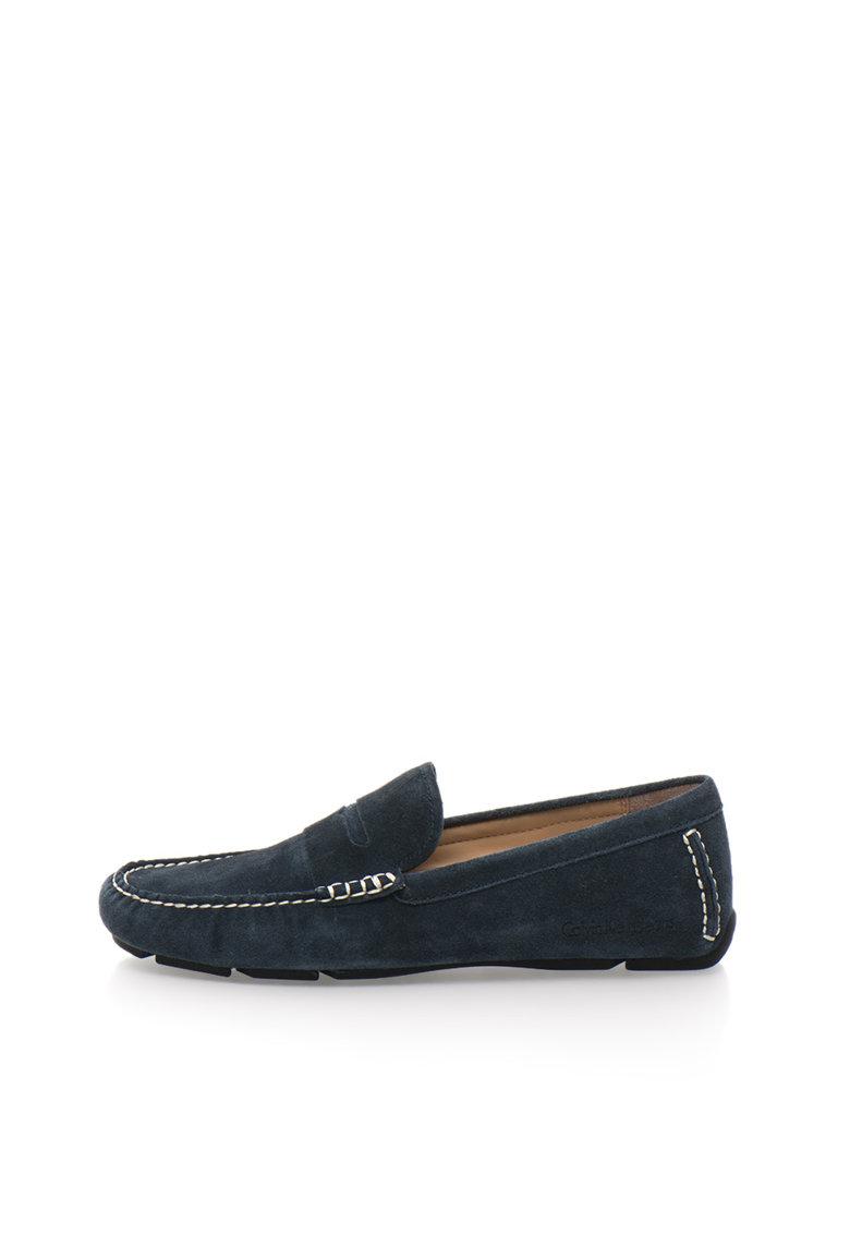 Calvin Klein Jeans Pantofi loafer bleumarin de piele intoarsa Paz