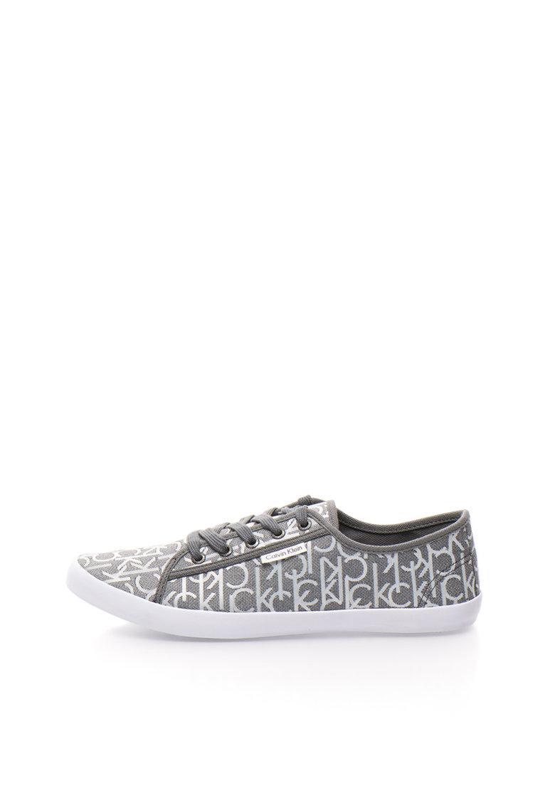Calvin Klein Jeans Pantofi sport gri cu imprimeu logo Fallon