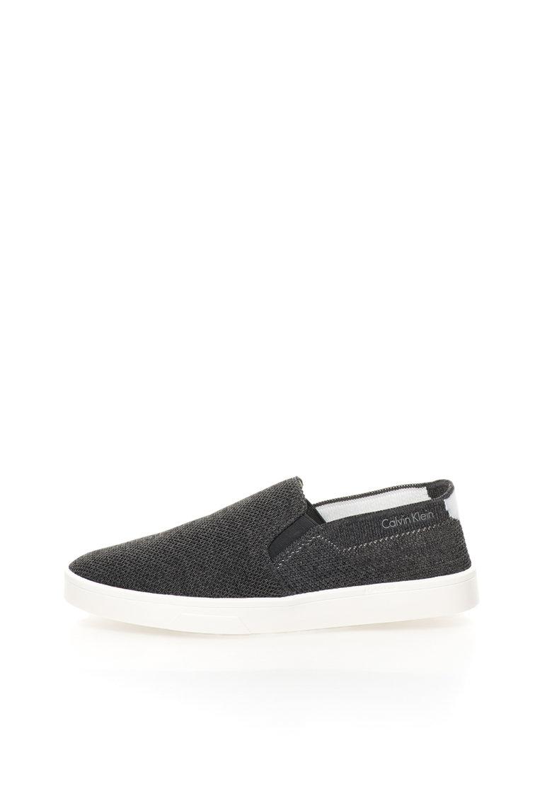 Calvin Klein Pantofi slip-on gri inchis Inca