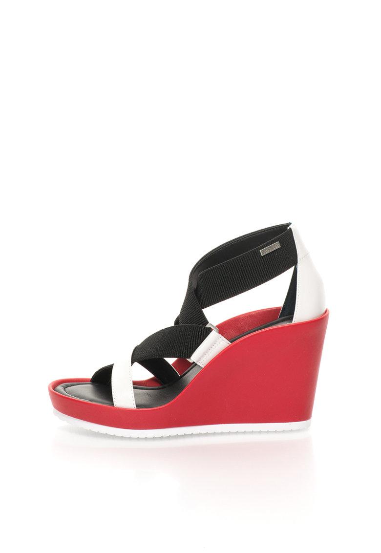Calvin Klein Sandale cu platforma si benzi elastice