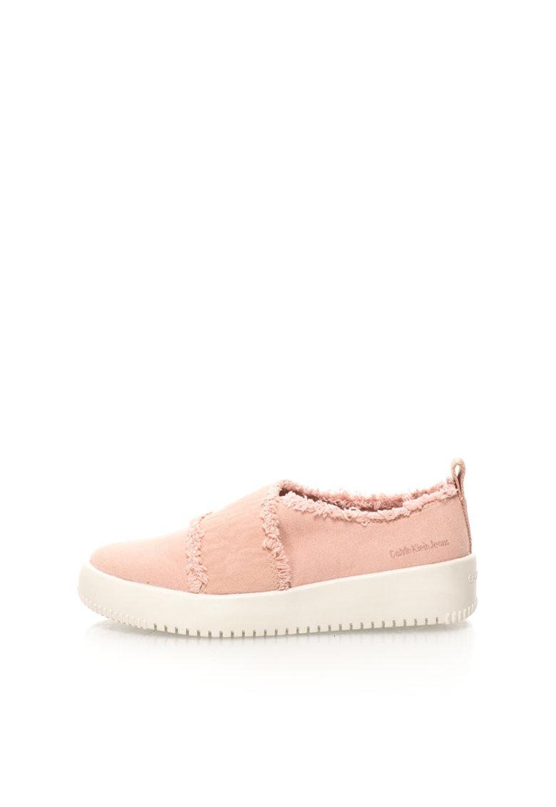 Calvin Klein Jeans Pantofi slip-on roz deschis de panza cu franjuri Dale