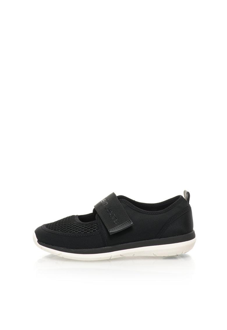 Calvin Klein Jeans Pantofi sport Mary Jane negri de neopren Idalis