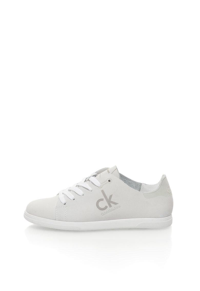 Calvin Klein Jeans Pantofi sport gri deschis de piele nabuc Sailor