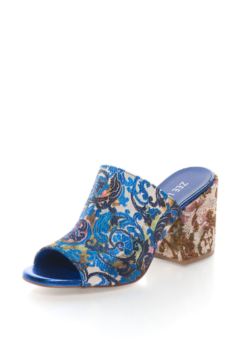 Sandale slip-on cu model oriental