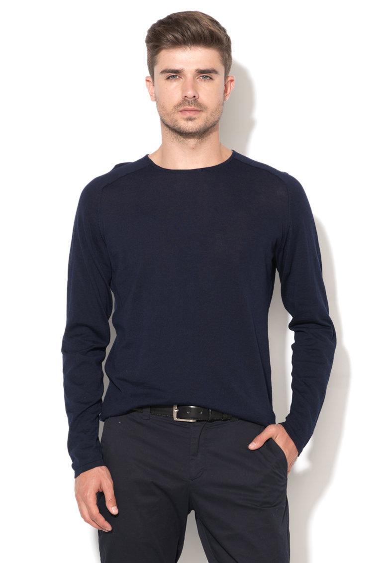 JackJones Bluza bleumarin tricotat fin
