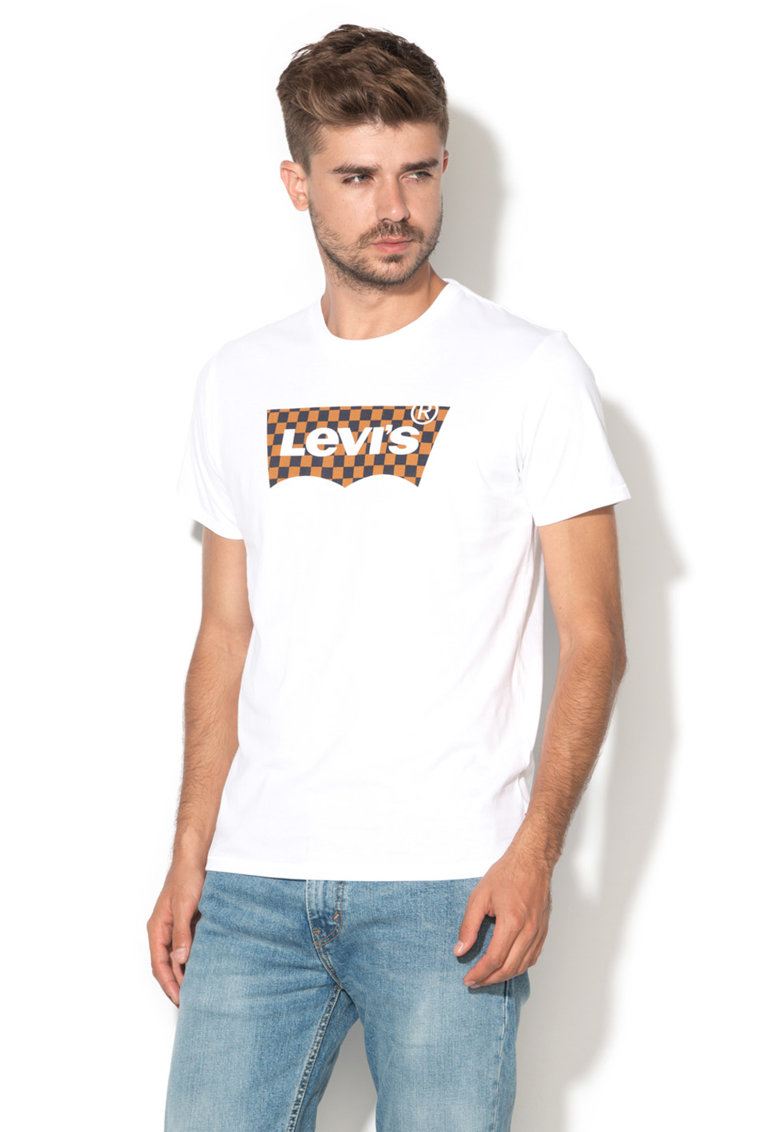 Levis Tricou alb cu logo