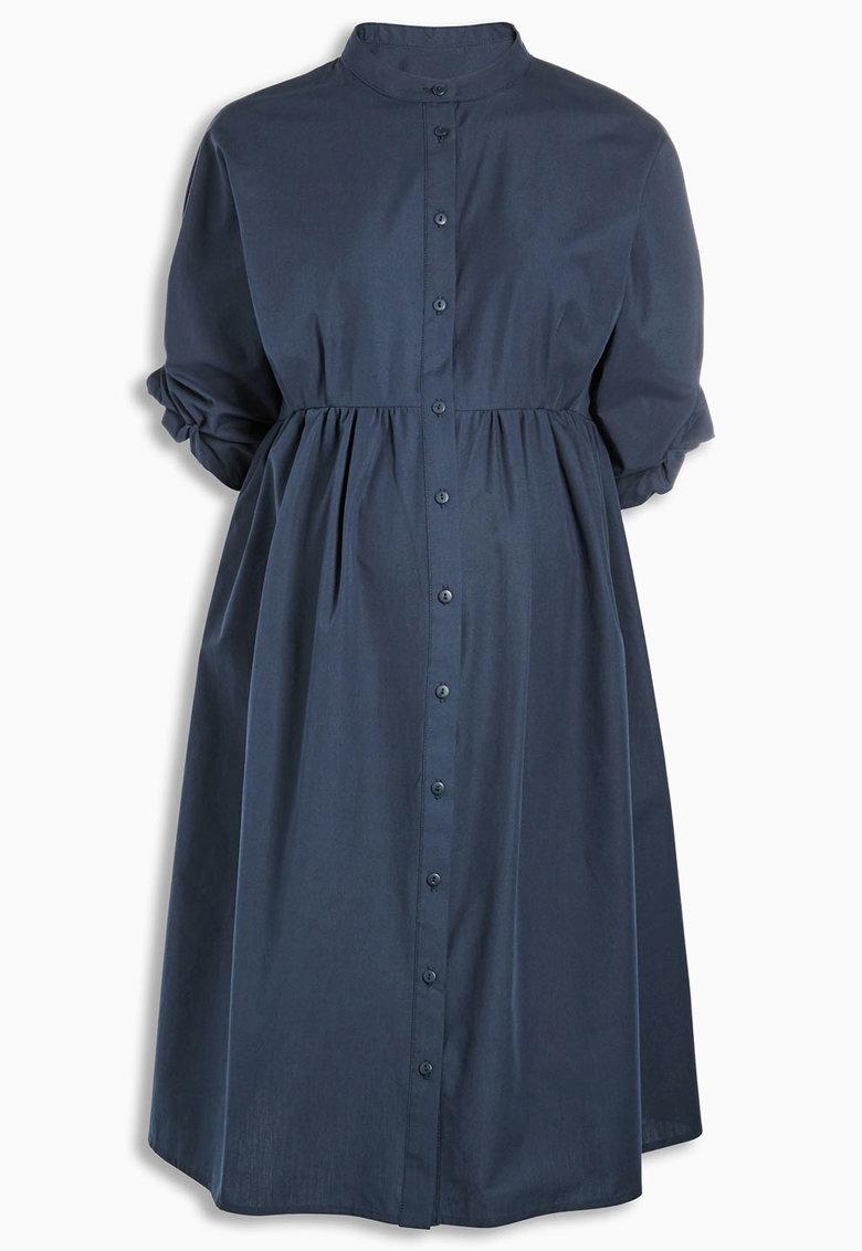 NEXT Rochie tip camasa bleumarin pentru gravide