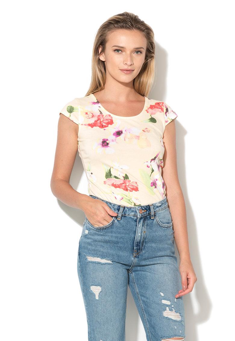 Hailys Hailys – Bluza cu imprimeu floral – maneci tip aripioara si bretele incrucisate Melanie