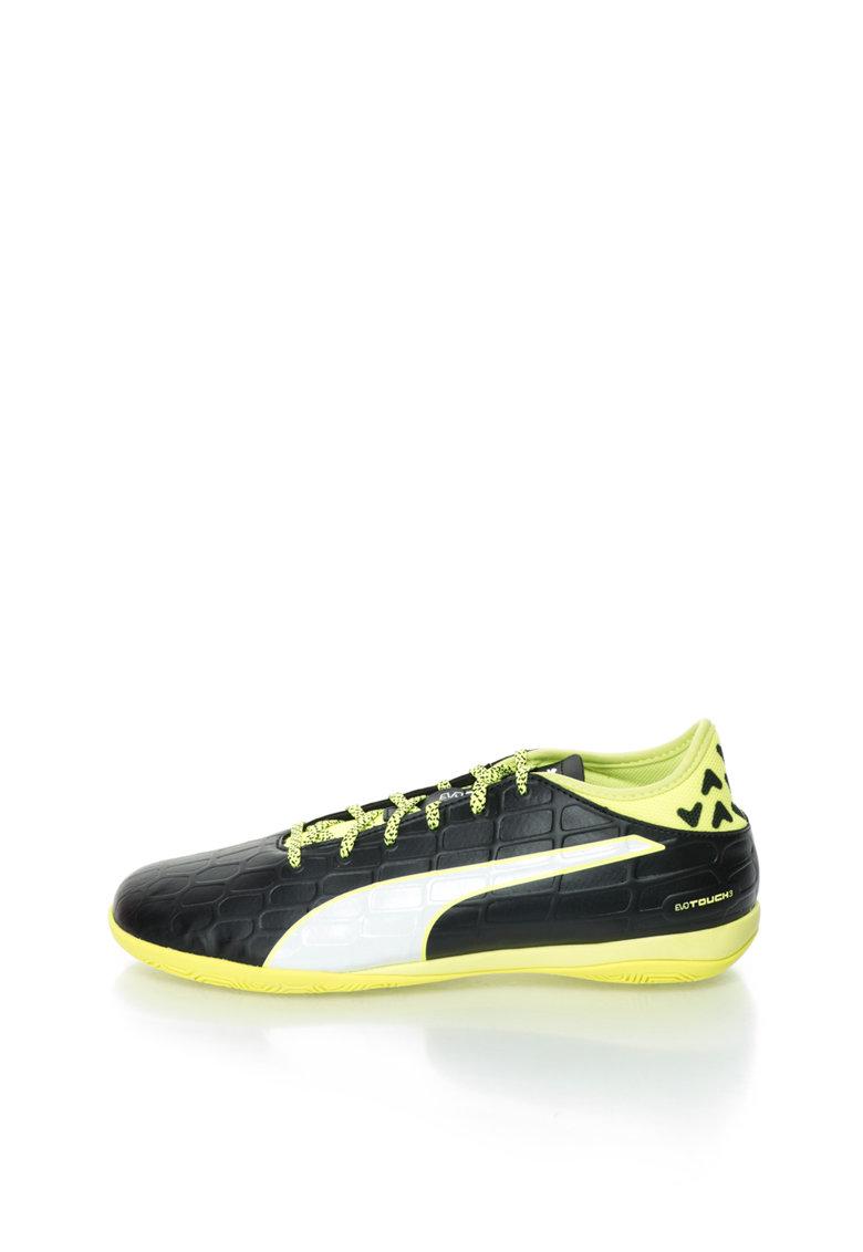 Puma Pantofi sport negru cu verde neon Evotouch 3