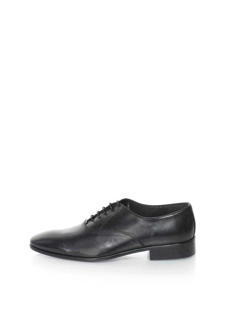 Versace 1969 Abbigliamento Sportivo Pantofi negri de piele Gilbert