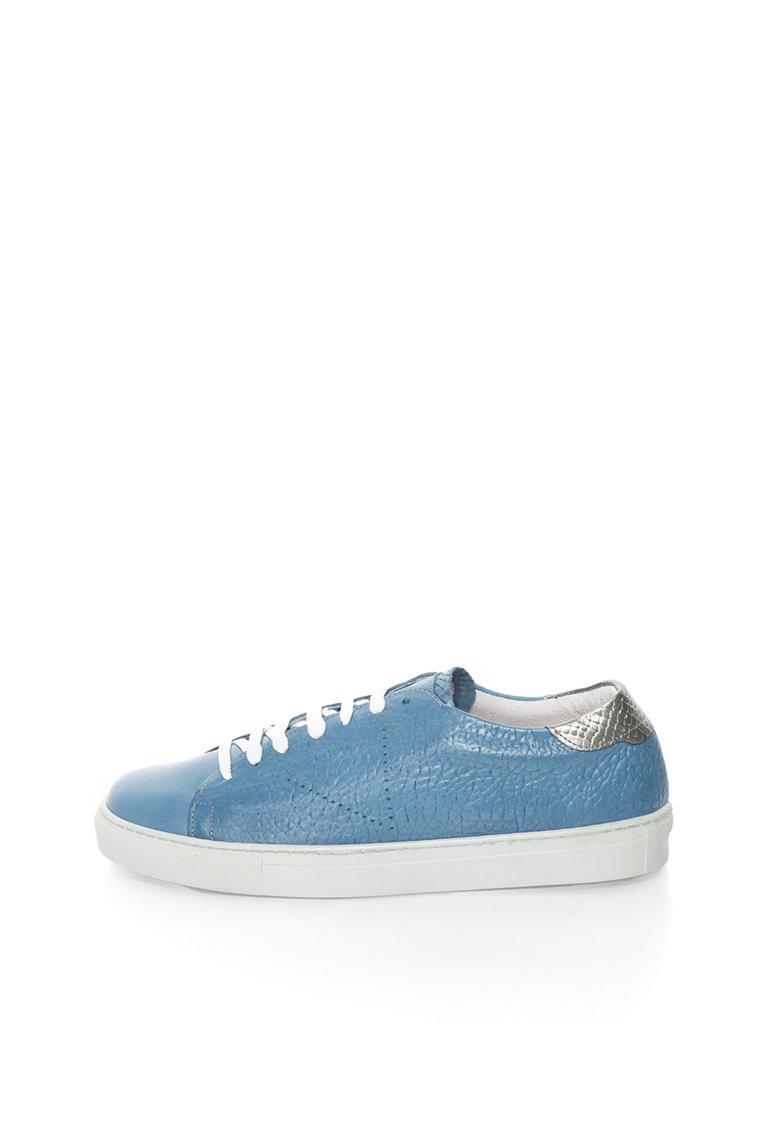 Pantofi casual albastru prafuit de piele Egide