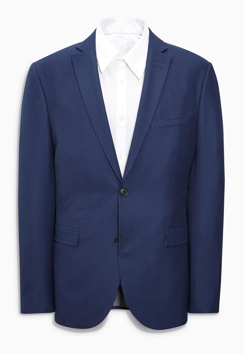 NEXT Sacou albastru indigo slim fit