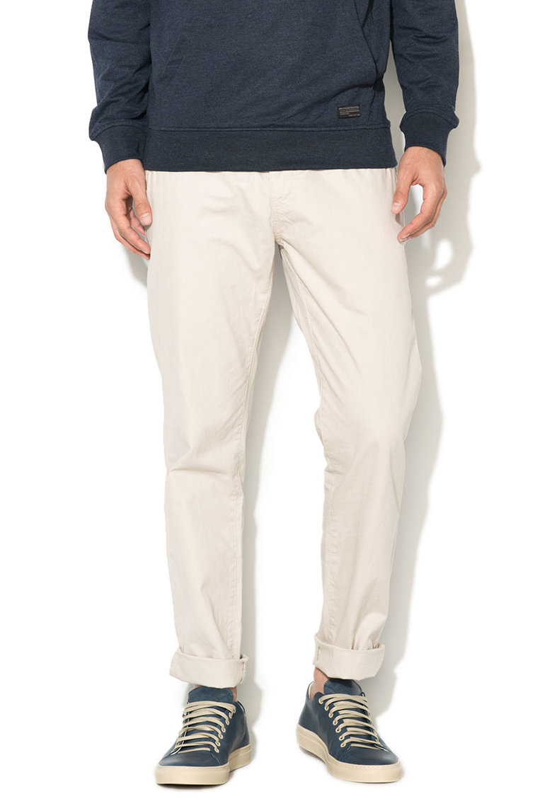 Pantaloni chino regular fit gri deschis Chris