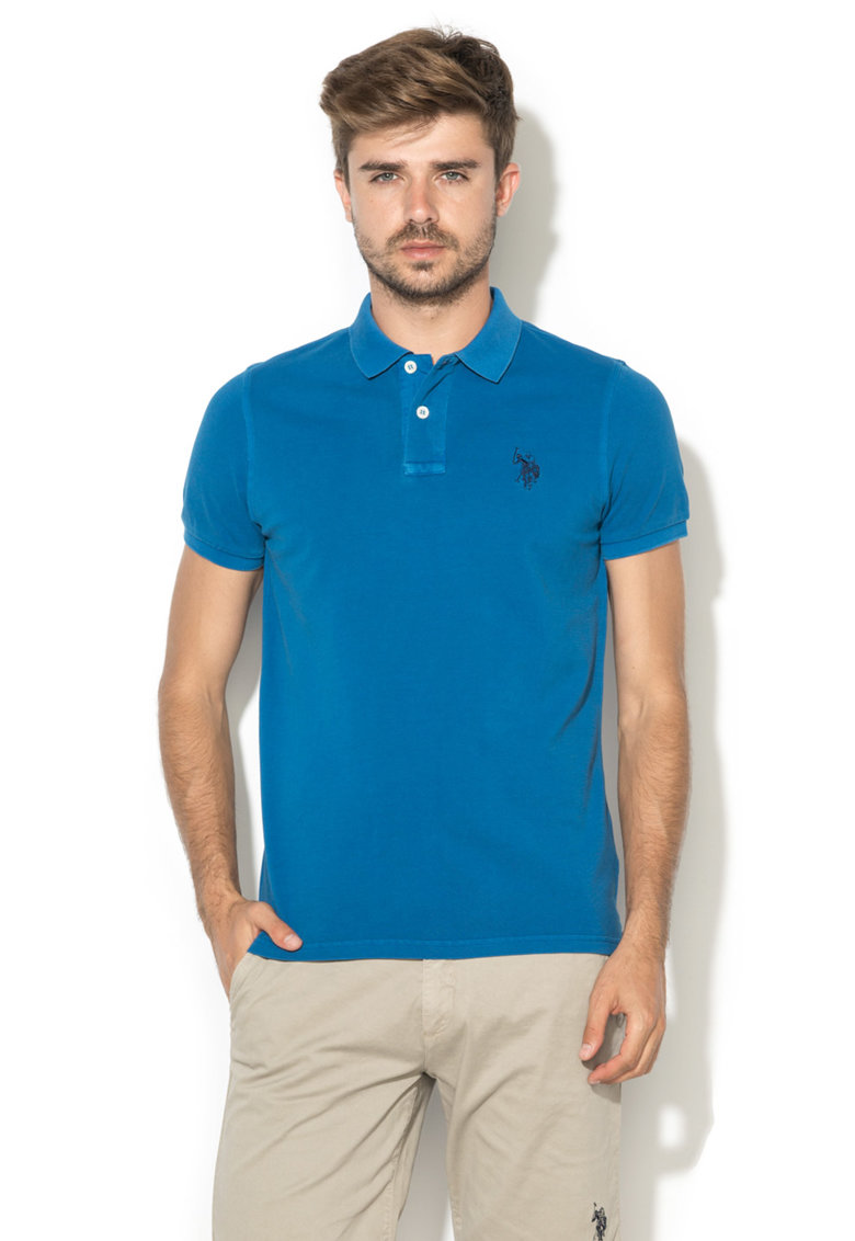 US Polo Assn Tricou polo albastru cobalt Player