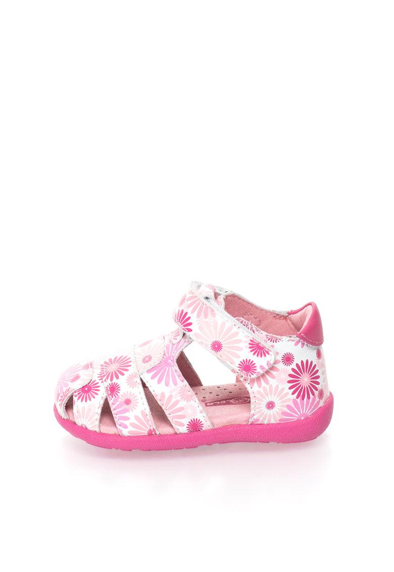 Lea Lelo Sandale de piele cu imprimeu floral
