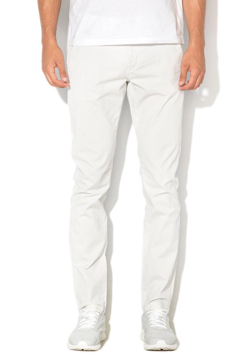 GUESS JEANS Pantaloni chino super skinny cu talie joasa Daniel