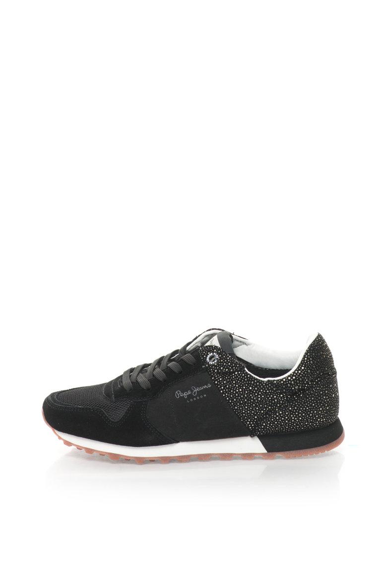 Pepe Jeans Pantofi sport cu garnituri de piele intoarsa Verona Flash