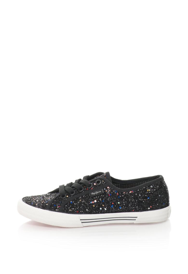 Pepe Jeans Pantofi sport cu particule stralucitoare Aberlady
