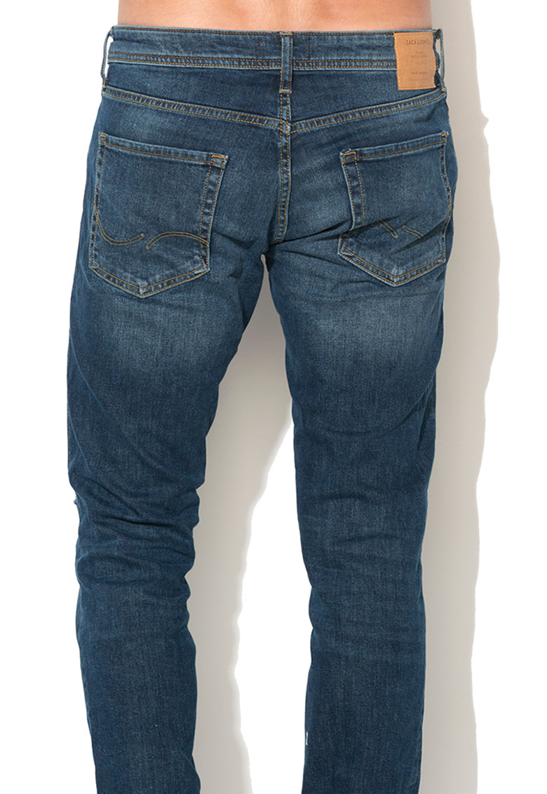 JackJones Jack & Jones – Blugi slim fit cu rupturi decorative discrete Tim