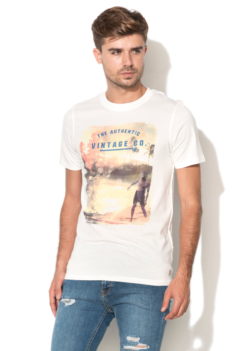 JackJones Jack & Jones – Tricou slim fit cu imprimeu frontal Surf