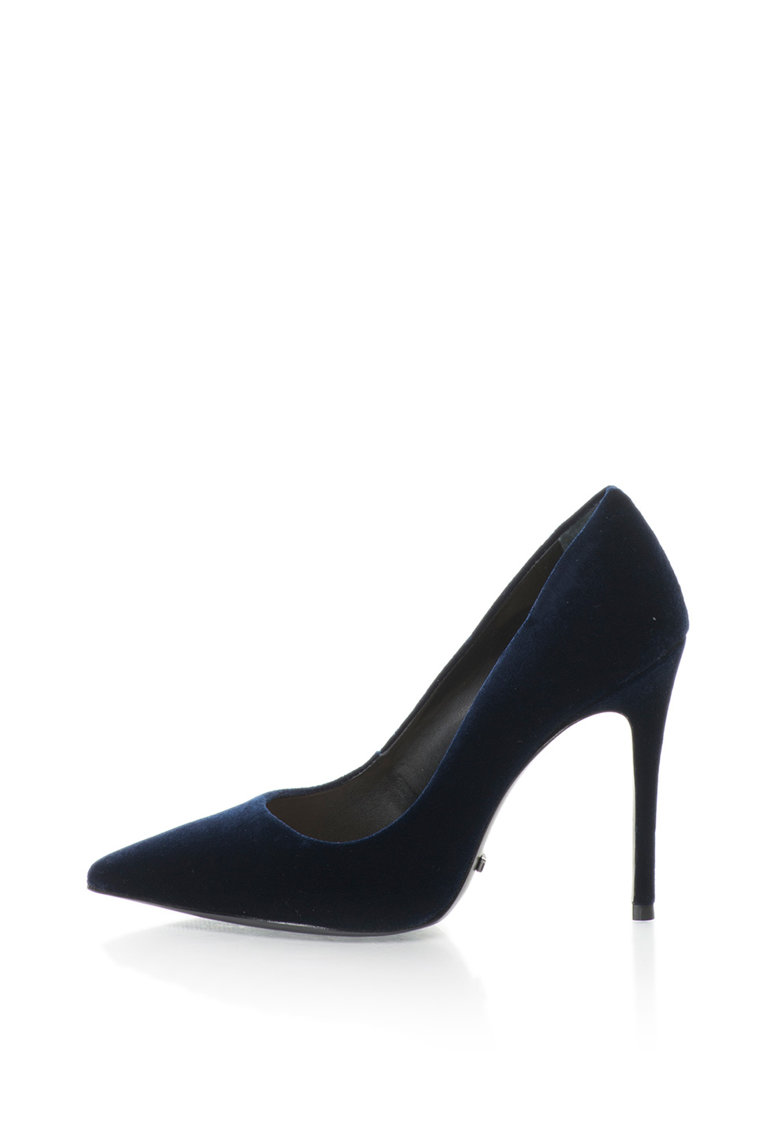 Pantofi stiletto catifelati