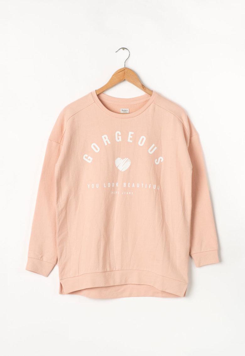 Bluza sport cu imprimeu text Stella Pepe Jeans London