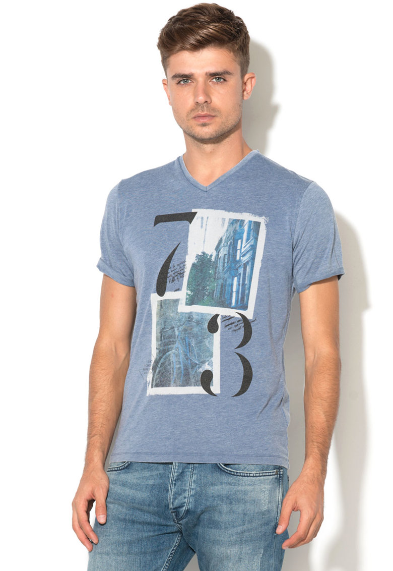 Pepe Jeans London Tricou slim fit cu imprimeu Acero