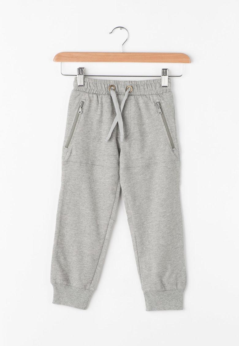 Pantaloni sport cu buzunare cu fermoar