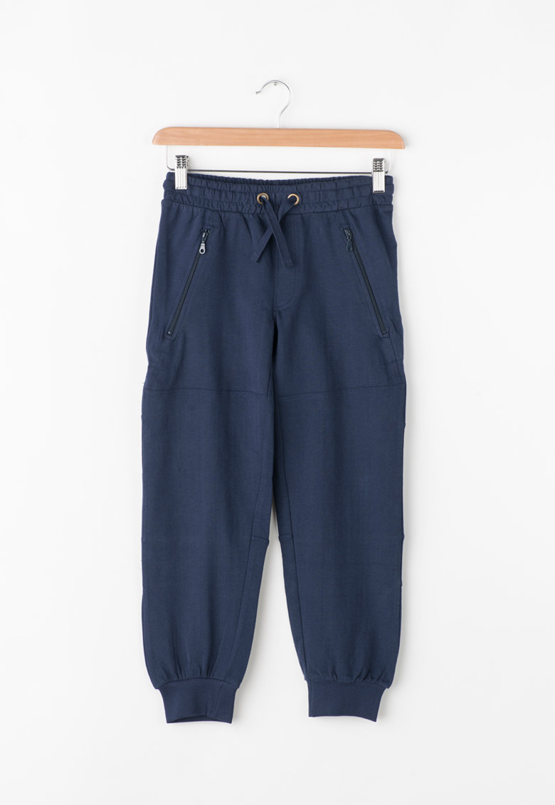 Pantaloni sport cu buzunare cu fermoar de la Zee Lane Kids – PA-I-1800-COTONE-BLU