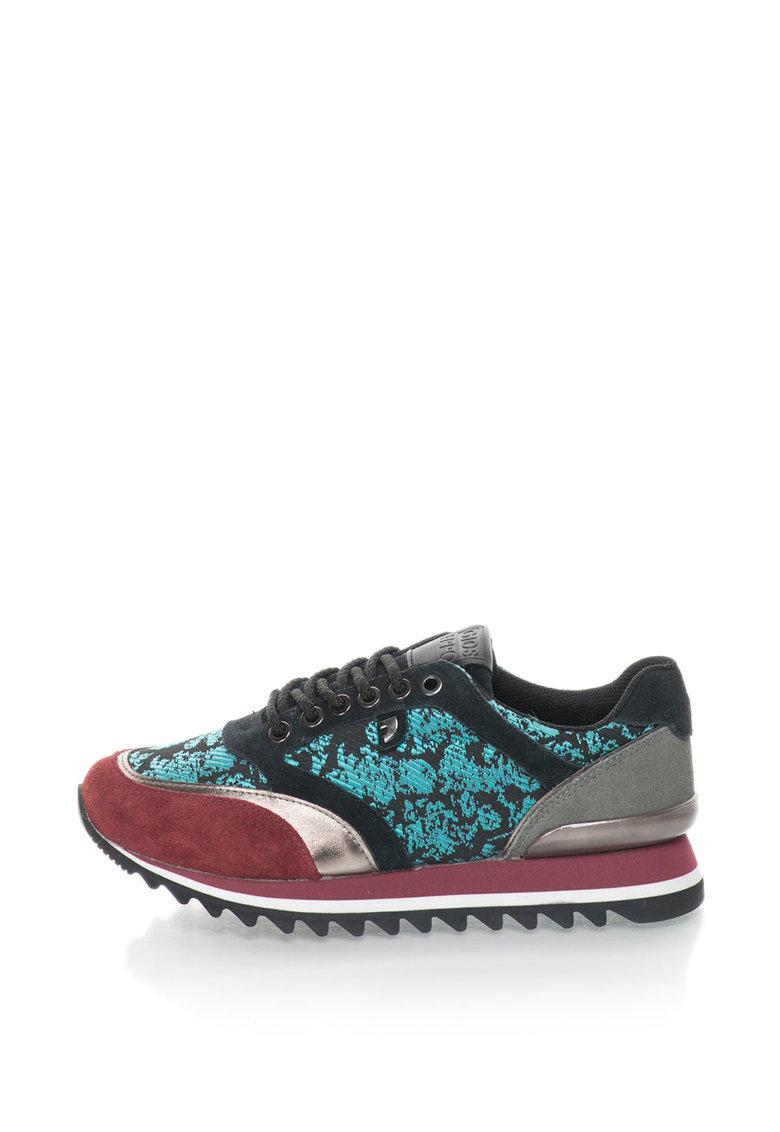 Gioseppo Pantofi sport cu insertii de piele intoarsa