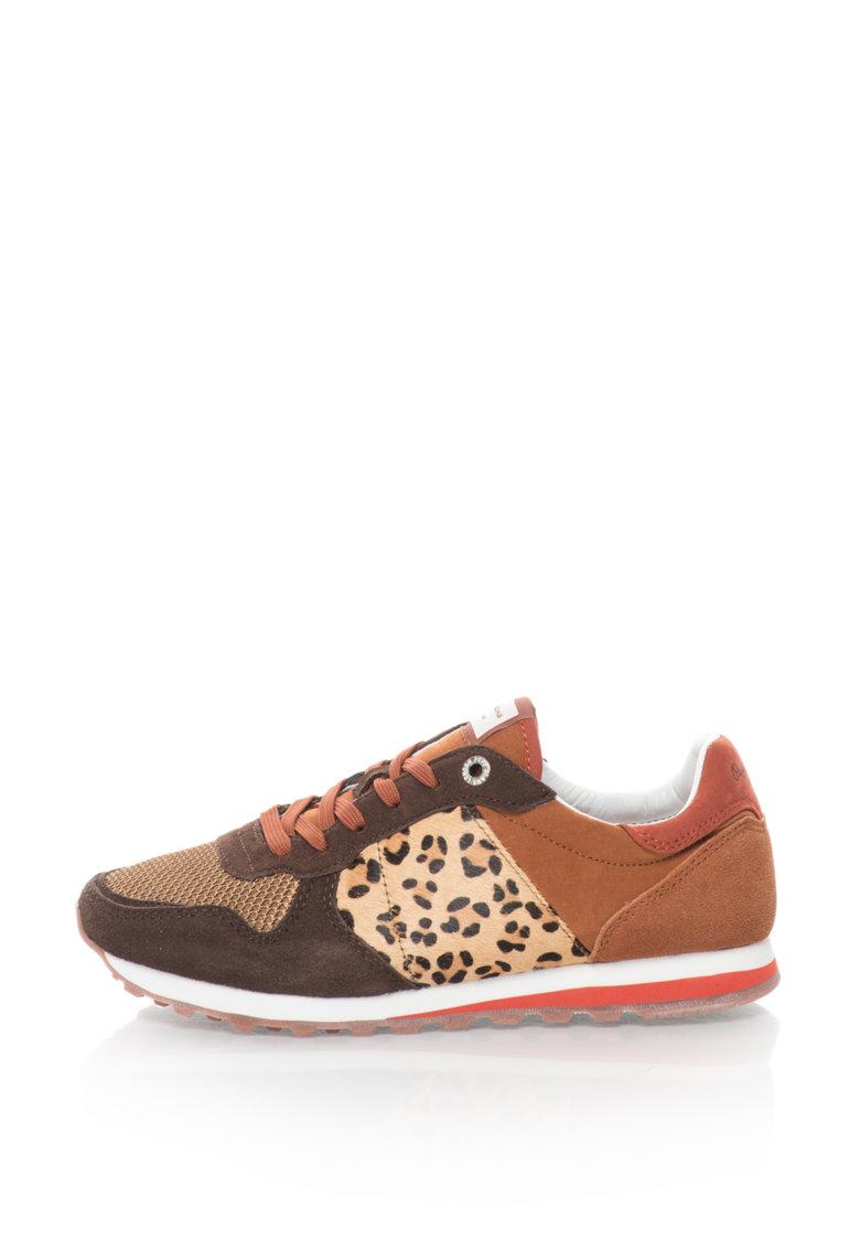 Pantofi sport cu insertii de piele cu par scurt Verona