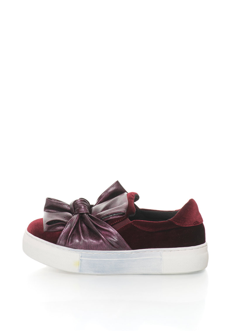 Pantofi slip-on flatform cu design rasucit de la Oakoui