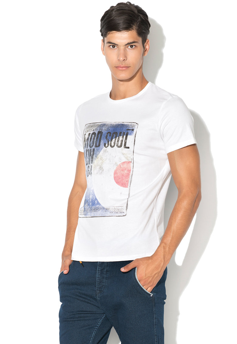 Pepe Jeans London Tricou regular fit cu design grafic
