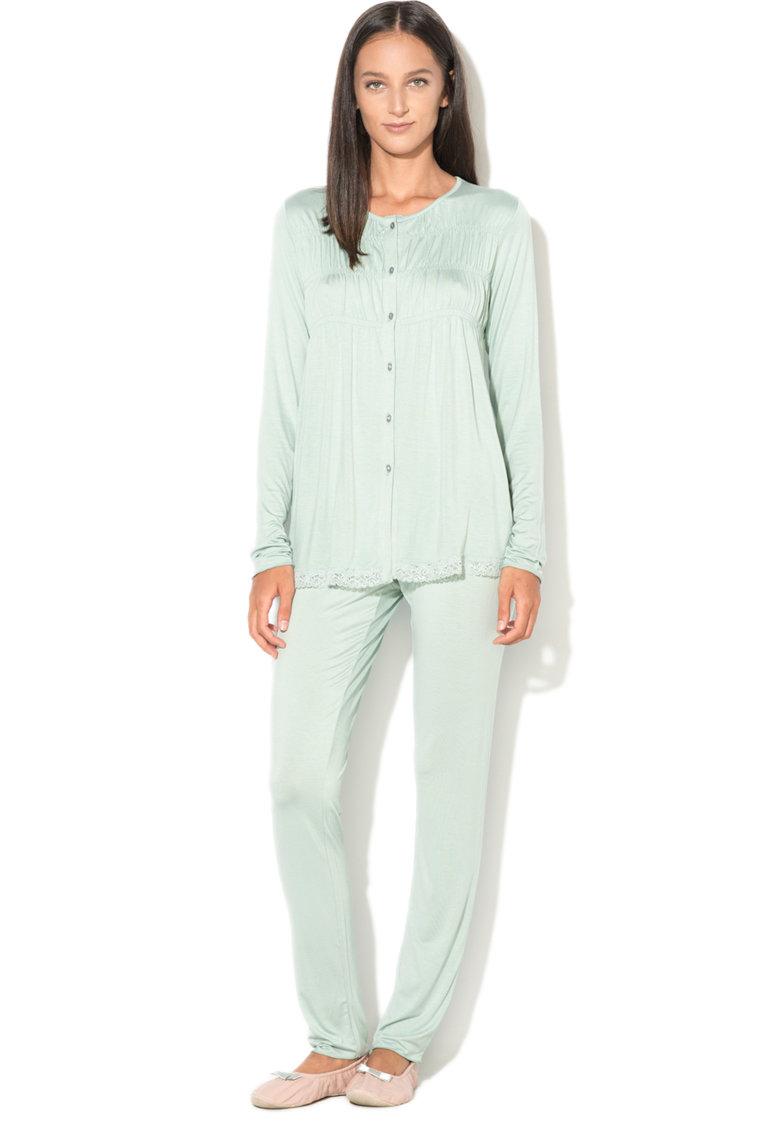 Undercolors of Benetton Pijama cu garnituri de dantela