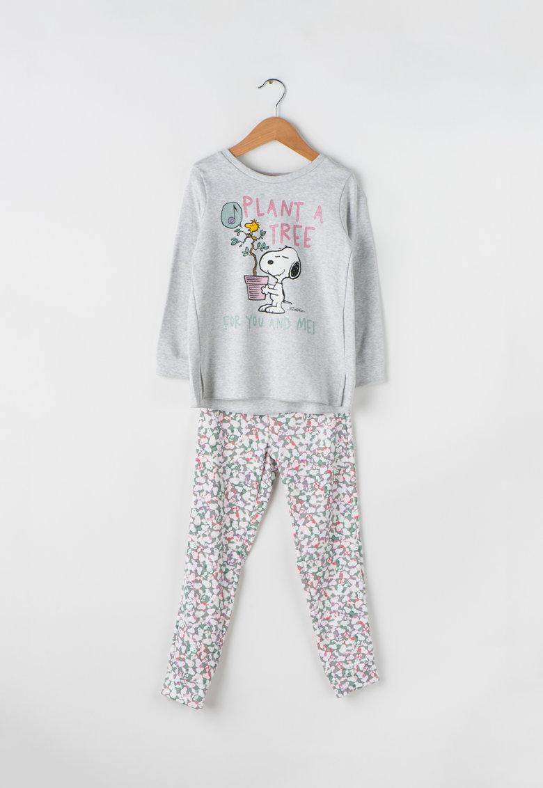 Pijamale cu imprimeu cu desene de la Undercolors of Benetton