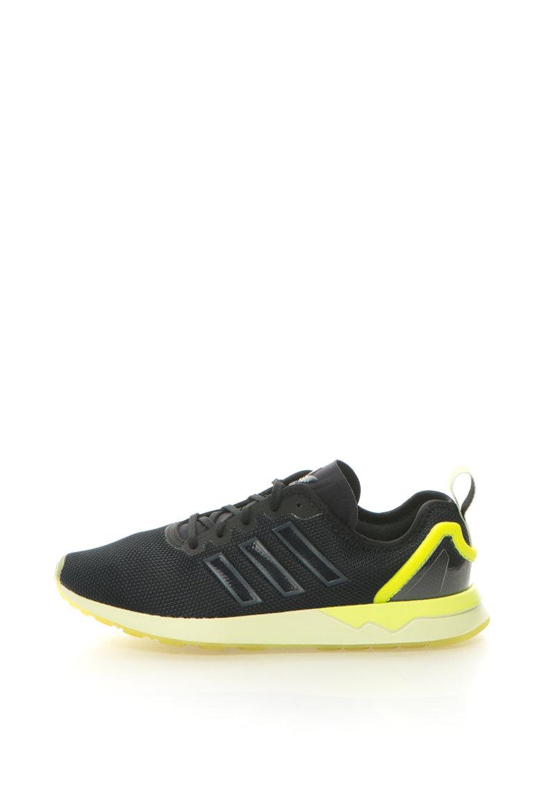 adidas Originals – Pantofi sport ZX Flux ADV – Negru/Verde neon
