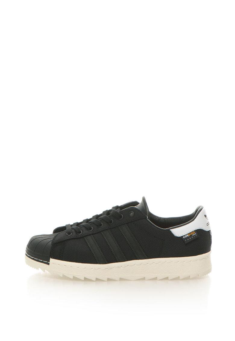 adidas Originals – Pantofi sport de plasa Superstar – Negru