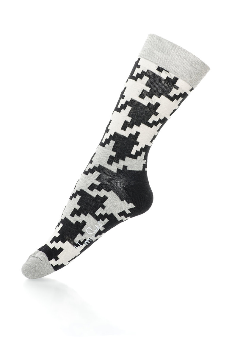 Happy Socks Sosete 3/4 cu imprimeu abstract – unisex