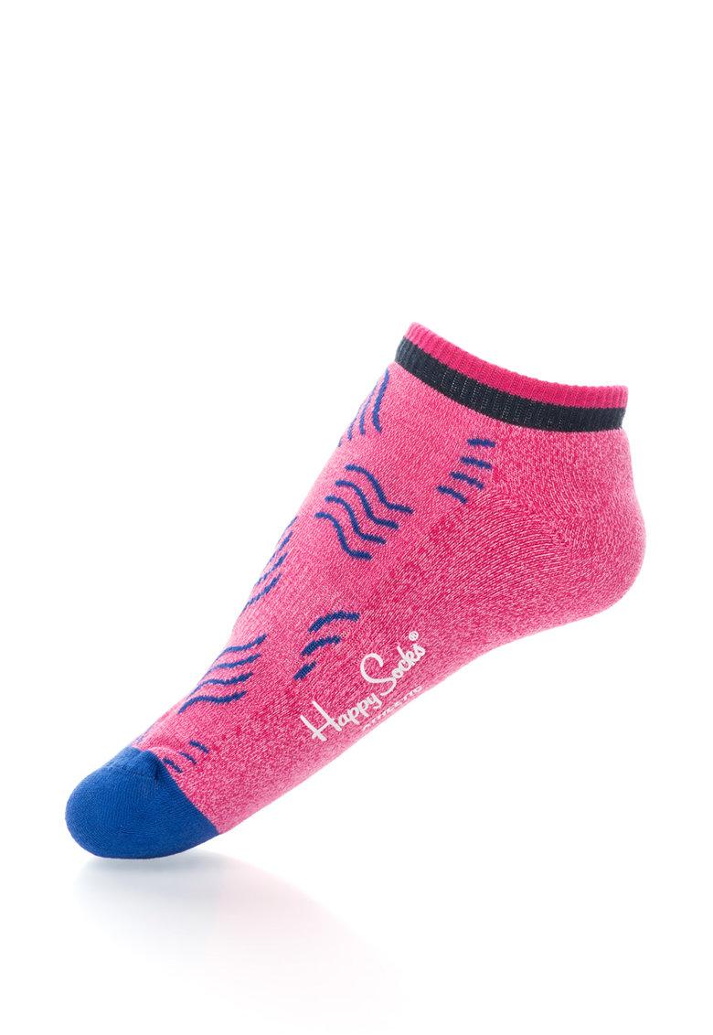 Happy Socks Sosete scurte unisex cu talpa cu efect de amortizare